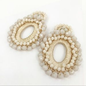 CLOSET REHAB Jewelry - Boho Beaded Drop Earrings Off-White